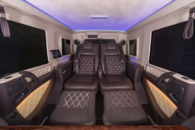 INKAS Armored Mercedes G63 AMG Limousine interior