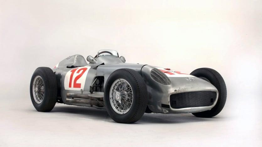 1954 Mercedes-Benz W 196 R Silver Arrow racing car driven by Juan Miguel Fangio
