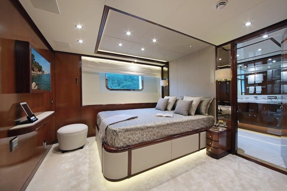 50M Benetti Vica Superyacht Cabin
