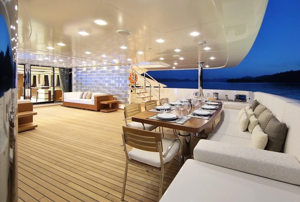 50M Benetti Vica Superyacht Dining Area