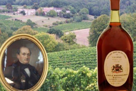 Bottle of Massougnes Cognac
