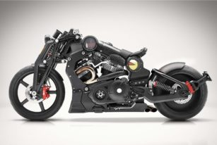 Confederate Motorcycles P51 G2 Combat Fighter Side View