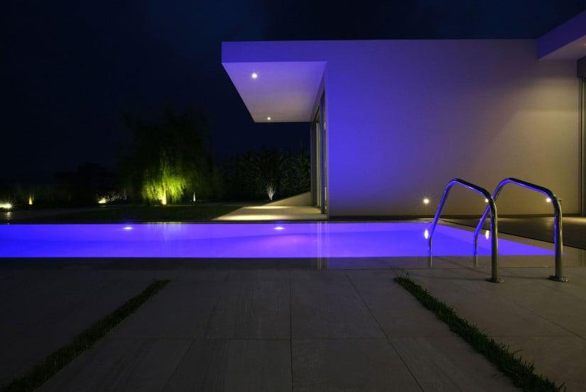 Contemporary Jiyeh Villa in Lebanon Lighted Pool