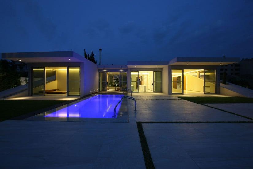 Contemporary Jiyeh Villa in Lebanon Night