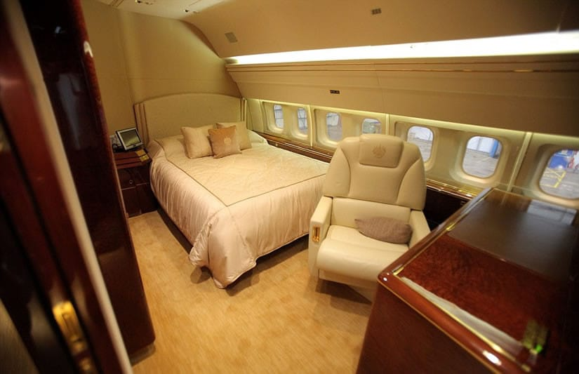 Donald Trump jet - features a bedroom