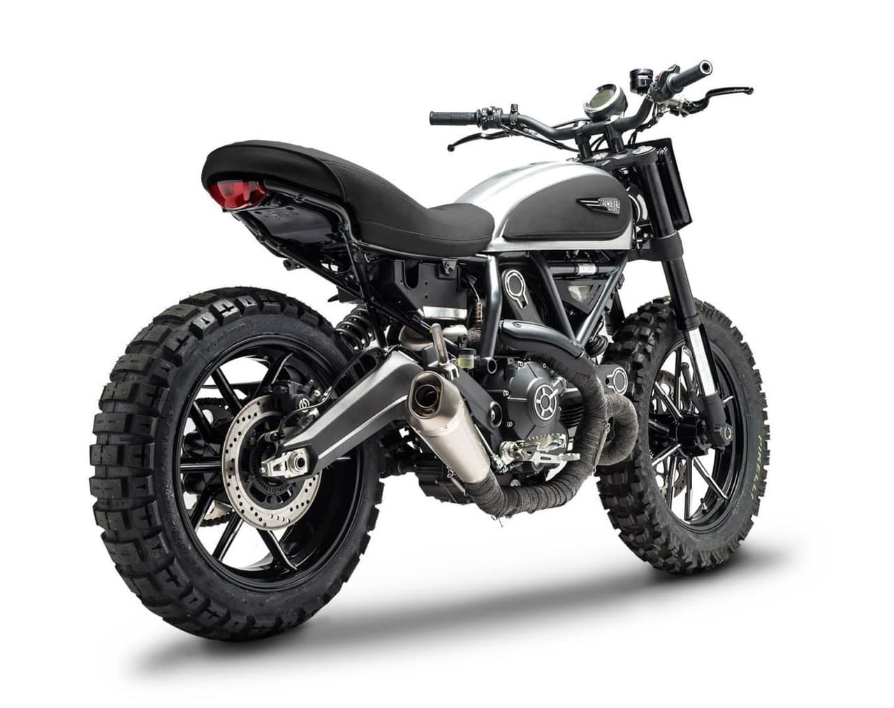 Ducati Scrambler Dirt Tracker Back View