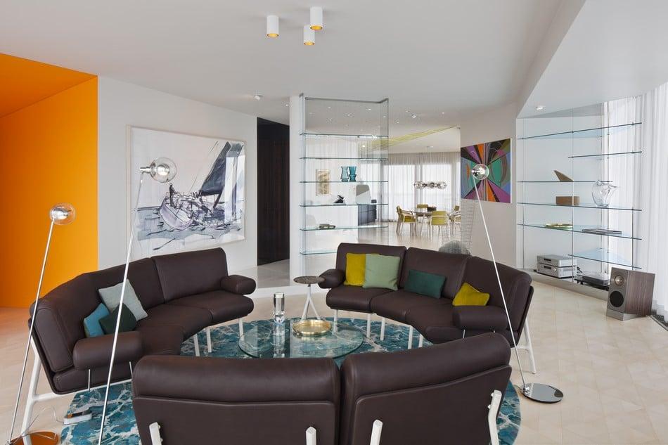 Esentai Tower Luxury Living Room