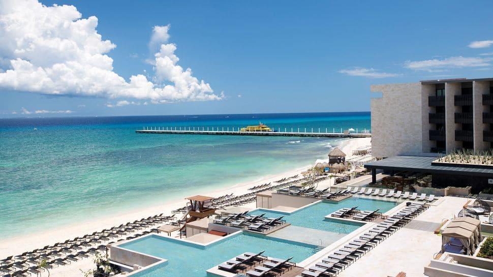 Grand Hyatt Playa del Carmen Resort Beach Panorama