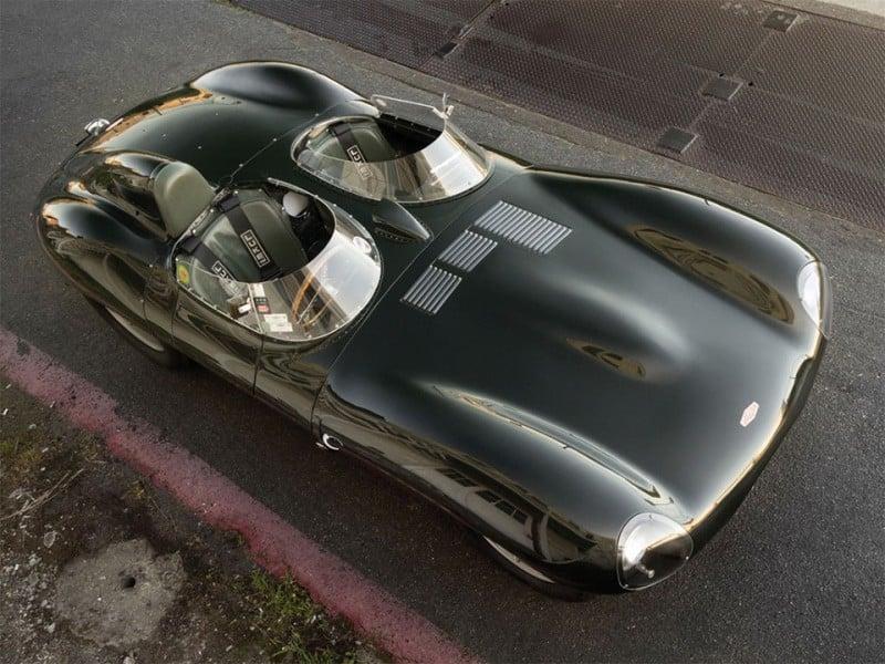 Historic 1955 Jaguar D-Type Top View