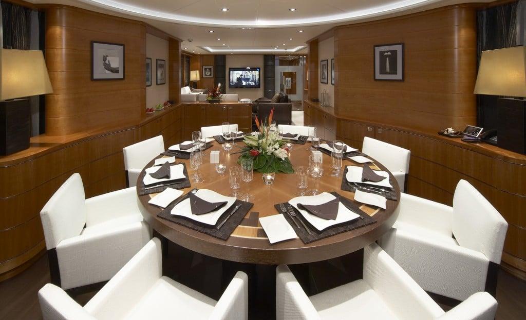 Ilona Luxury Yacht Dinning Area