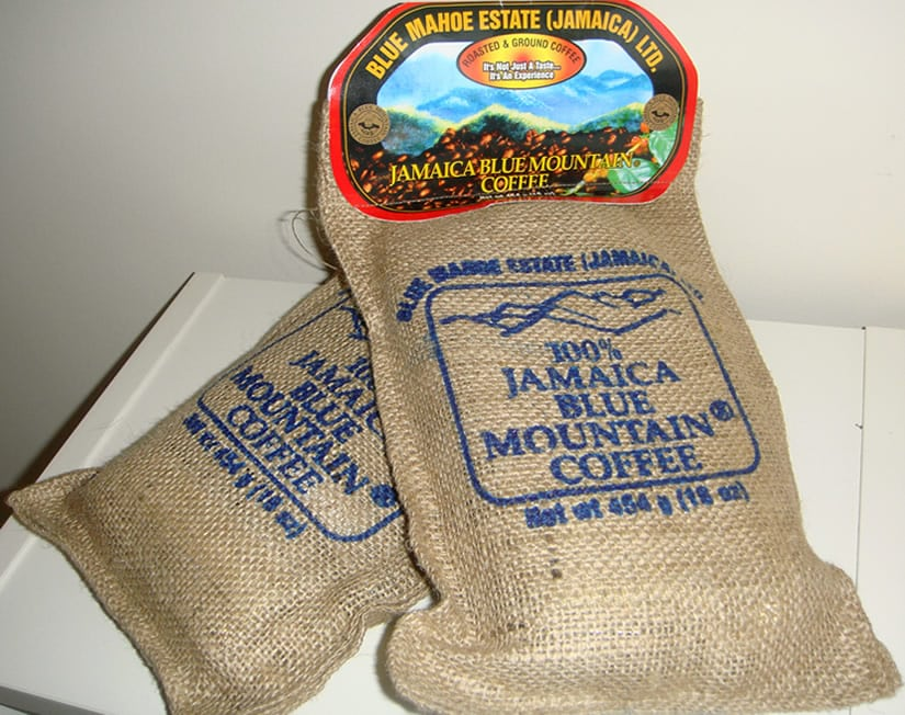 Jamaican Blue Mountain Coffee packed for retail sales