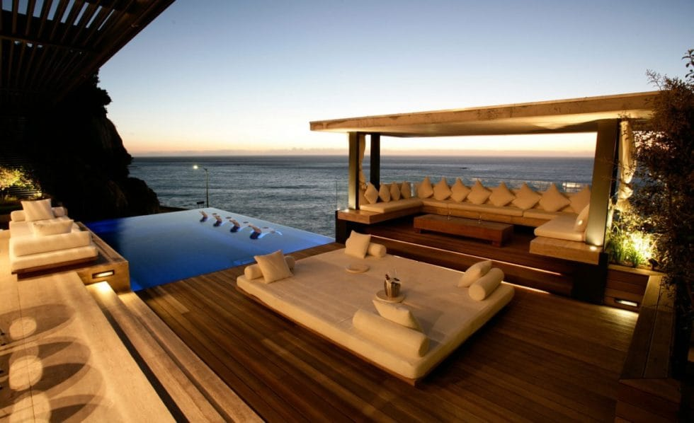Luxury Rental Villa Outdoor Lounge Area