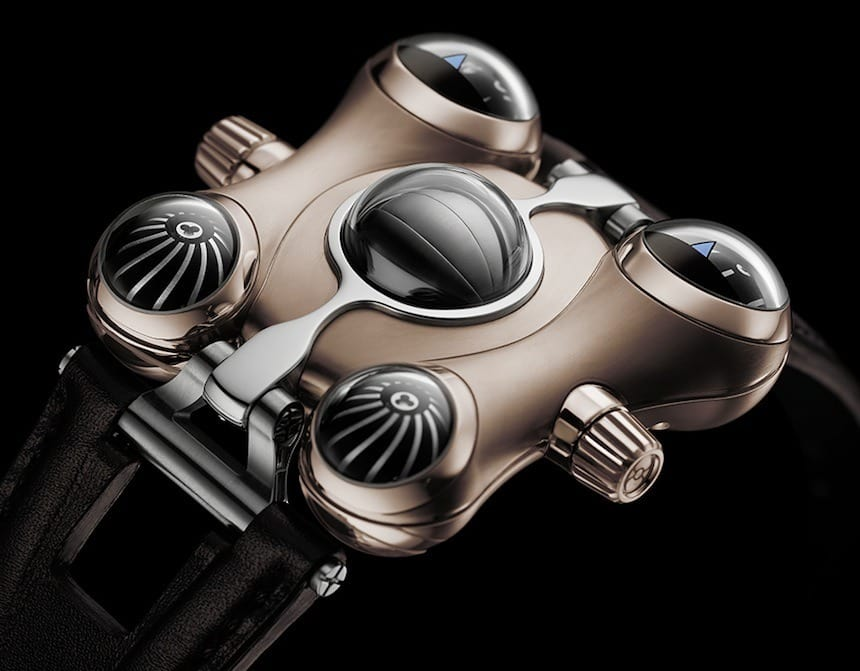 MB&F HM6 Space Pirate Watch in Rose Gold