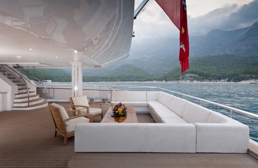 Majestic Irimari Superyacht Deck Lounge Area