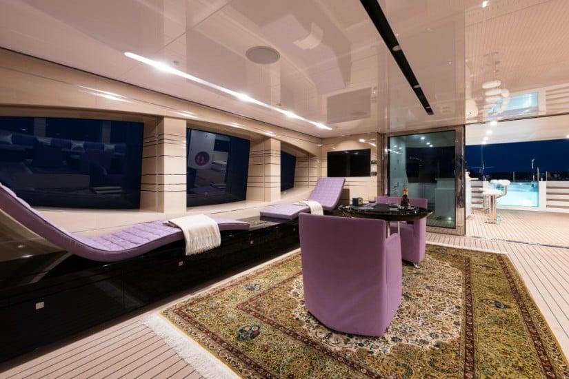 Majestic Irimari Superyacht Lounge Area