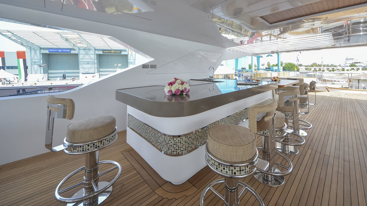 Majesty 155 Luxury Yacht Bar Area