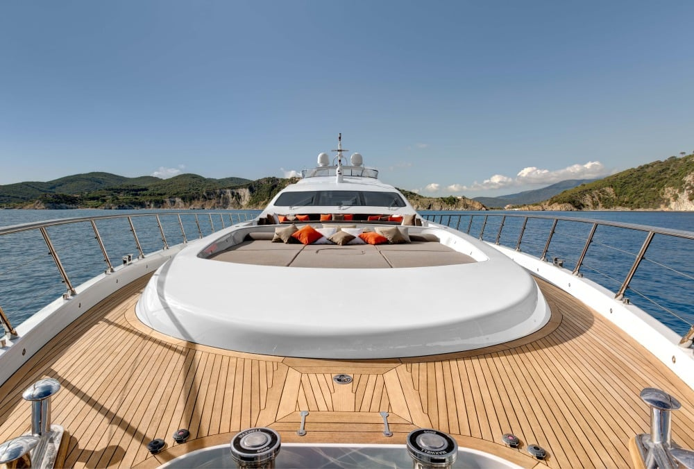 Mangusta 132 Private Yacht Deck