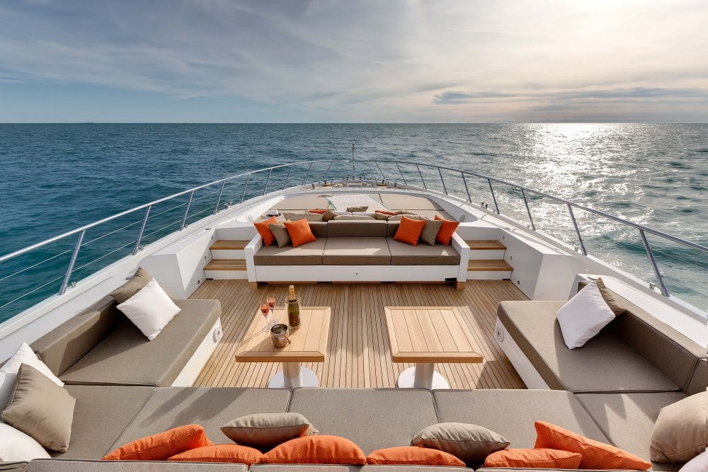 Mangusta 132 Private Yacht Foredeck
