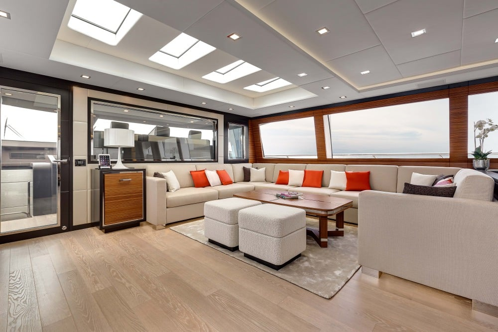 Mangusta 132 Private Yacht Lounge Areas