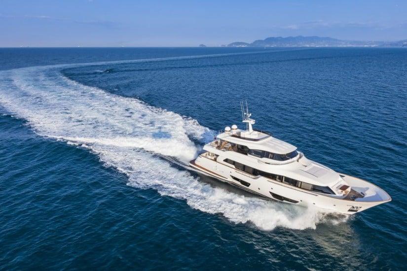Navetta 28 Luxury Yacht Top View