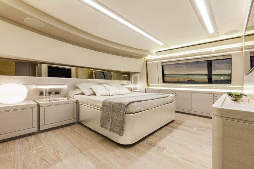 Navetta 28 Luxury Yacht by Custom Line Guest Cabin