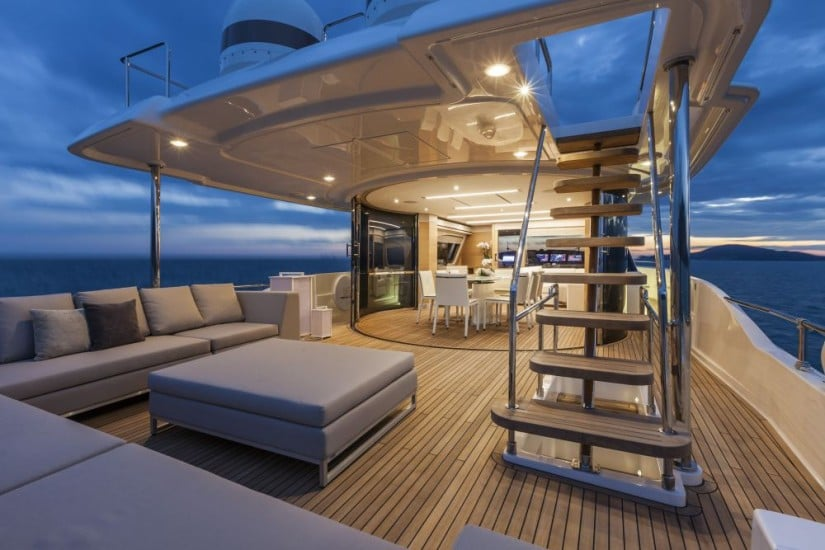 Navetta 28 Luxury Yacht by Custom Line Lower Deck