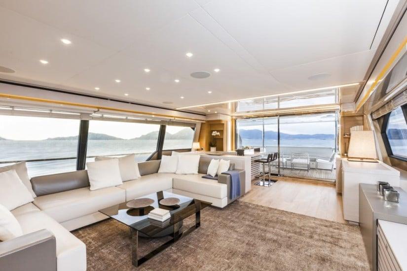 Navetta 28 Luxury Yacht by Custom Line Saloon