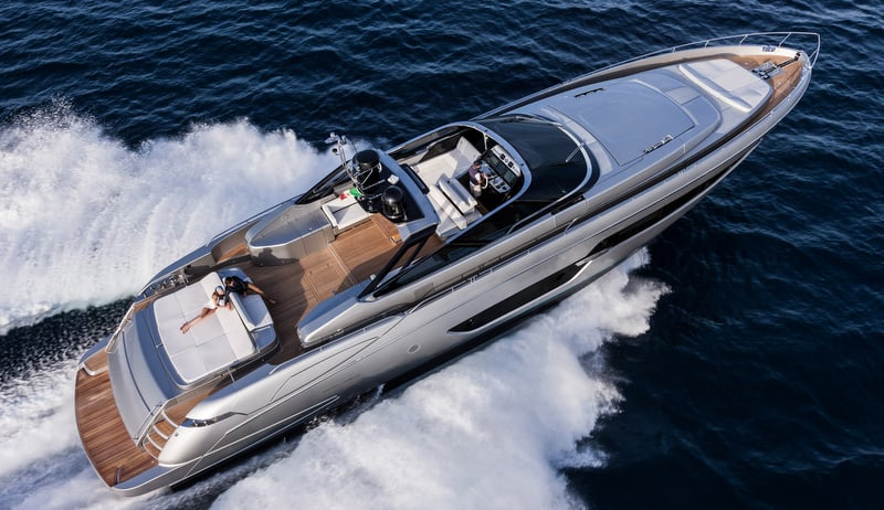 Riva 88' Florida Yacht Top View
