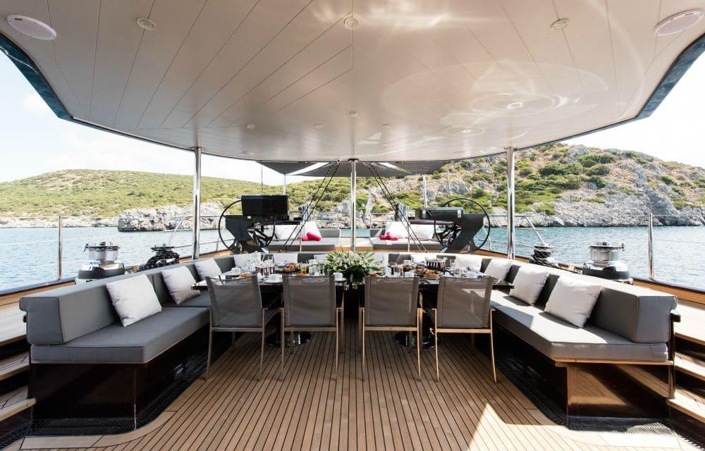 Rox Star Sailing Yacht Seating Area