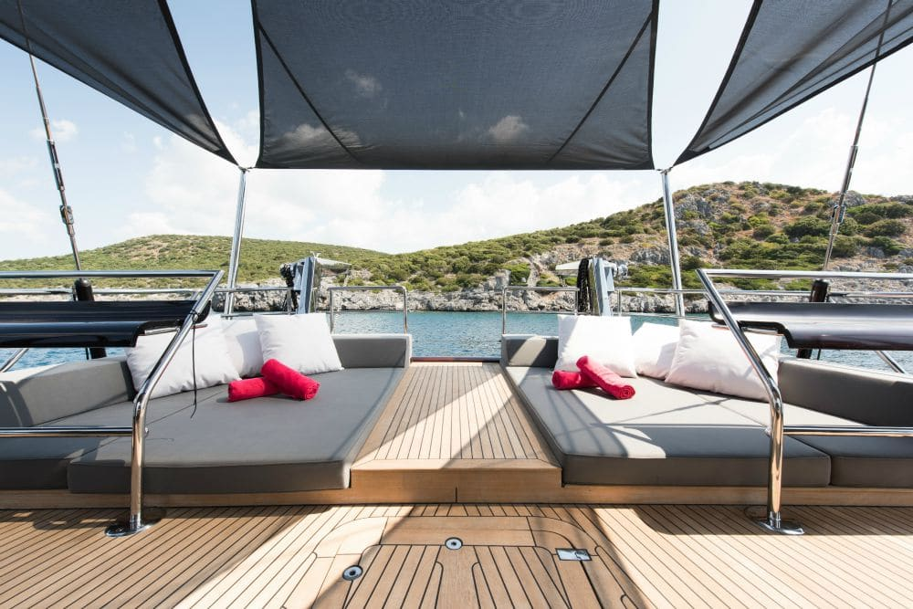 Rox Star Sailing Yacht Sunbathing Area