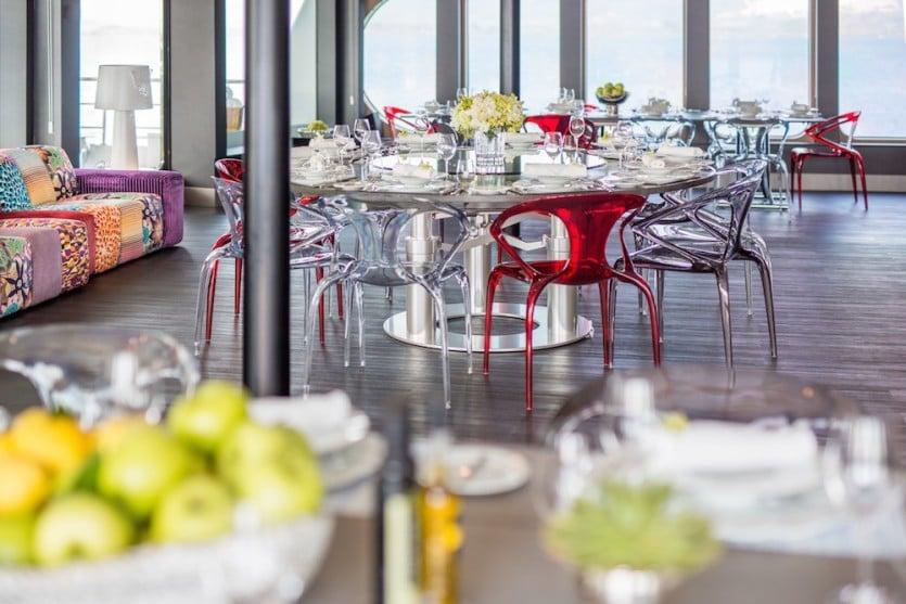 Saluzi Motor Yacht Dining Area 1