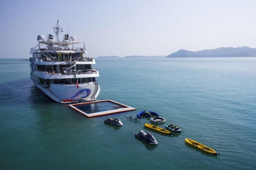 Saluzi Motor Yacht Floating Pool
