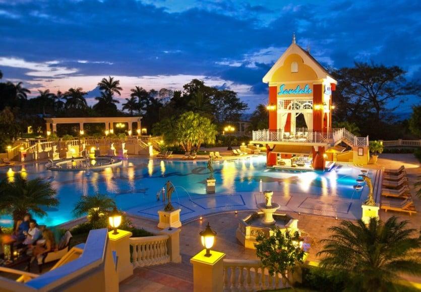 Sandals Ochi Beach Resort Night