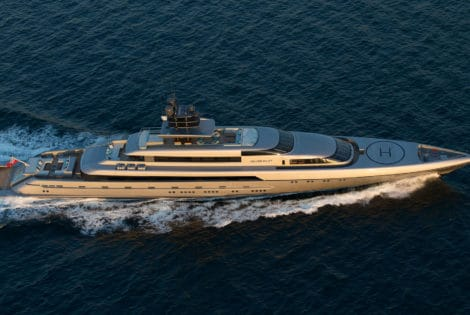 Silver Fast Superyacht by Silveryachts Top View