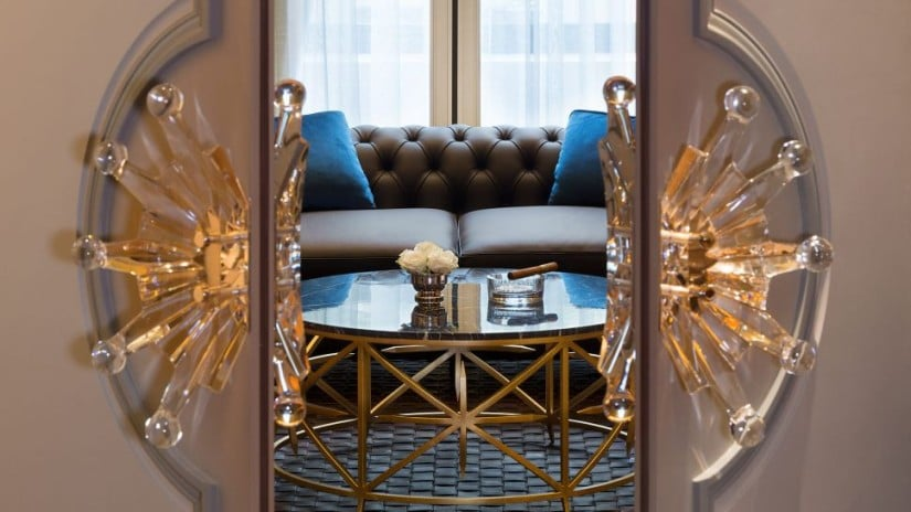 The Peninsula Paris Luxury Hotel Cigar Lounge