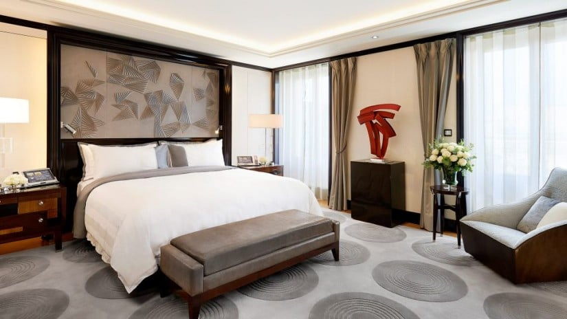 The Peninsula Paris Luxury Hotel Suite Bedroom