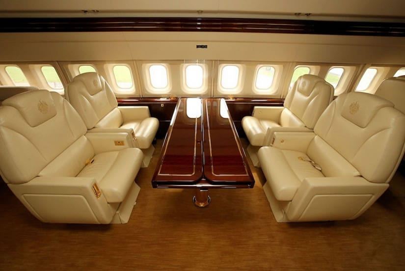 Trumps Private Jet Inside Table