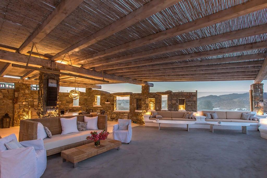 Villa Ali in Mykonos Dinning Area