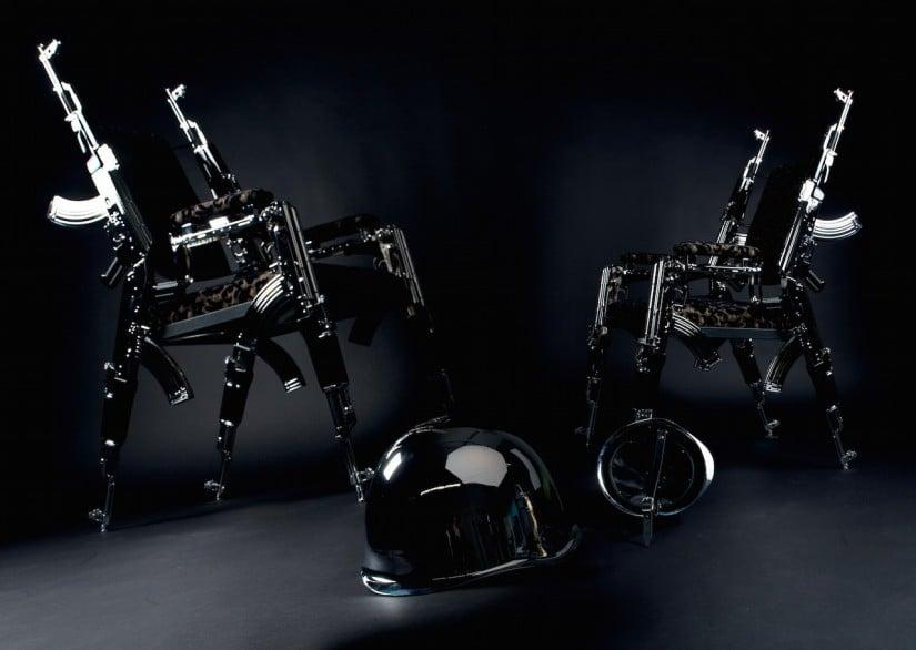 AK 47 Designer Chair by Artist Rainer Weber
