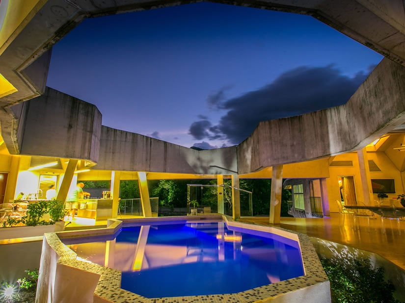 Alkira Tropical Residential Masterpiece Pool Night