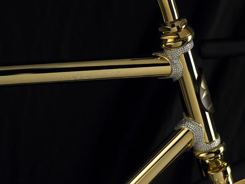Aurumania Gold Bike Swarovski Crystal Crossbar