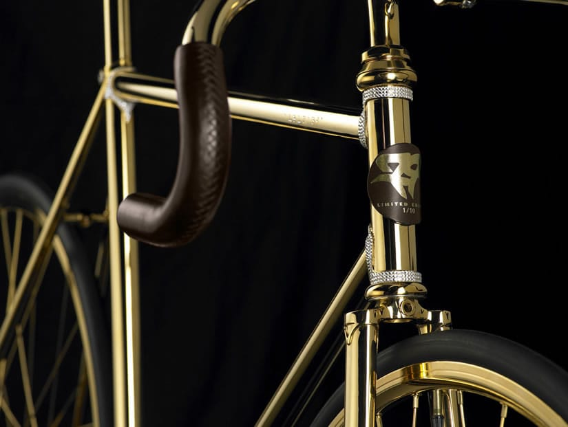 Aurumania Gold Bike Swarovski Crystal Frame