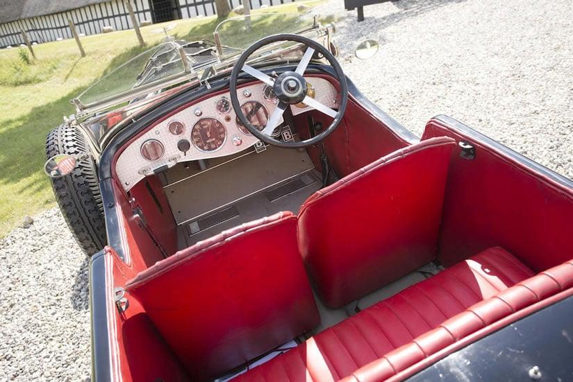 Bentley 6 ½ Litre 'Bob-Tail' Interior