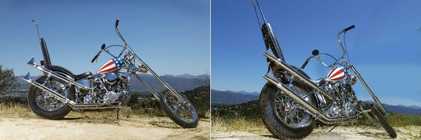 Captain America Harley Davidson Panhead Motorcycle