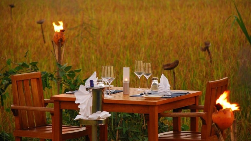 Dining at Jetwing Vil Uyana
