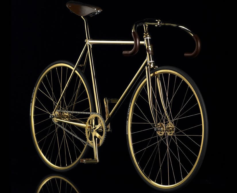 Gold Covered Aurumania Bike Crystal Edition