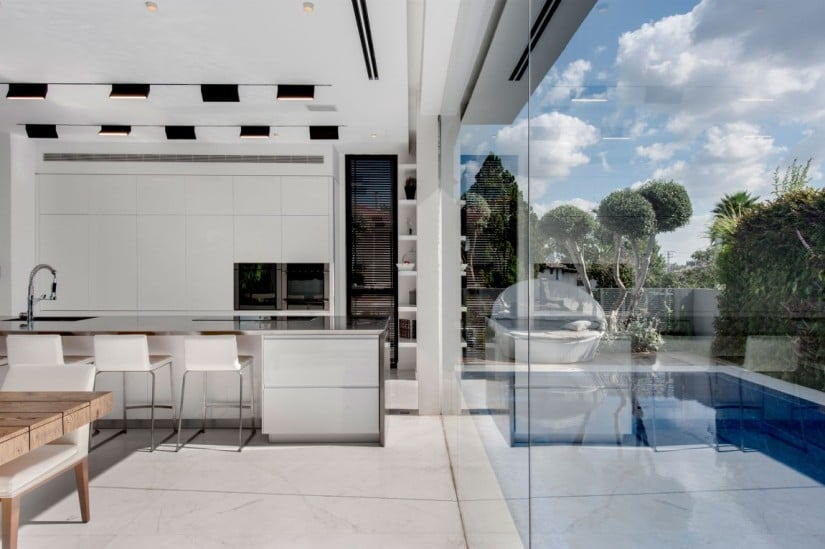 Kitchen View Hidden House by Israelevitz Architects