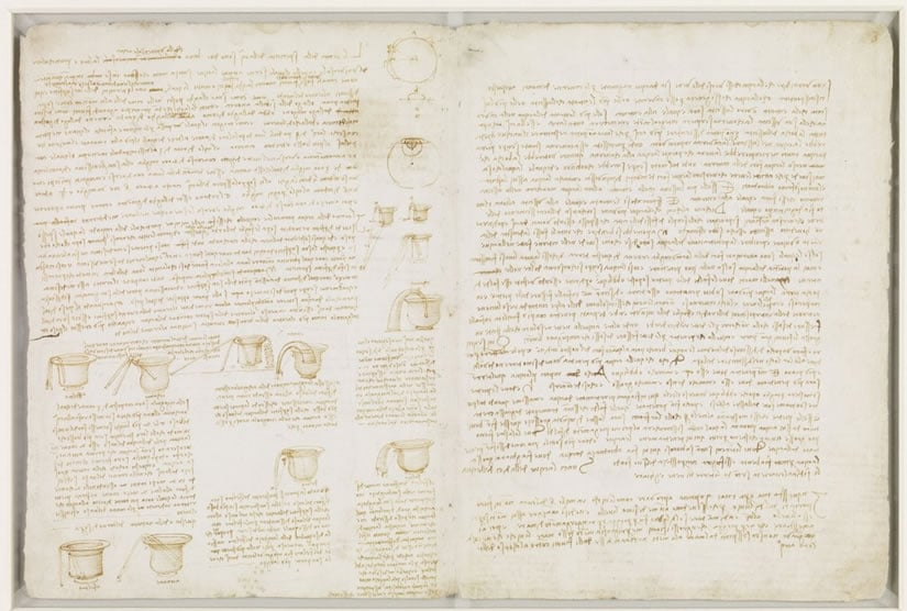 Leonardo da Vinci Page of Codex Leicester