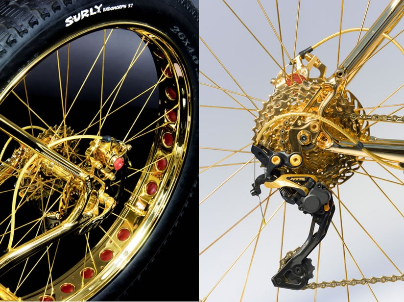 Luxury 24K Gold Extreme Mountain Bike Wheel