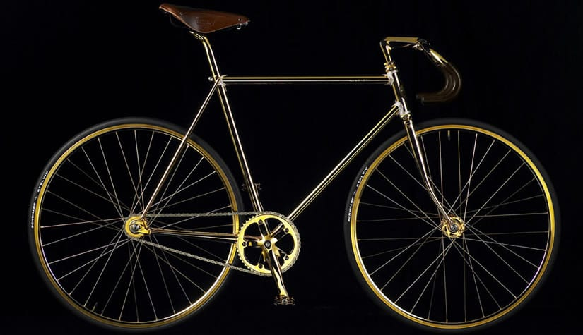 Luxury Aurumania Gold Bike Crystal Edition
